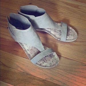 Grey Open Toe Sandals